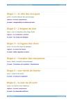 Fables de Venise - Table des matières après textes
